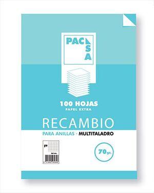 RECAMBIO 1/4 4 ANILLAS 100 HOJAS CUADRICULA 4 (21179) [I-4-2]