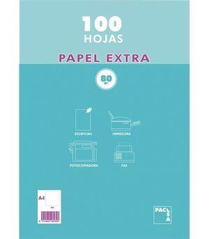 PAQUETE A4 100 HOJAS 80 GRAMOS (21811) [I-5-6]