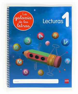 LECTOESCRITURA LA GALAXIA DE LETRAS LECTURAS 1 ED.2012 (137130) SM