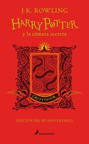 HARRY POTTER Y LA CAMARIA SECRETA (20 ANIV.GRYFFINDOR/ROJO)